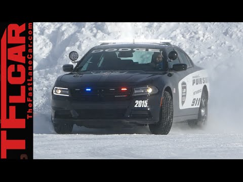 Dodge HEMI Charger Pursuit Police Car AWD Ice Track Review: Brrrr-usted Part 1