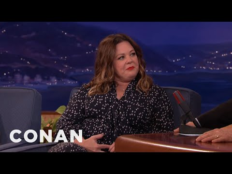 Young Melissa McCarthy Was POSITIVE Her Parents Never Had Sex Ever  - CONAN on TBS