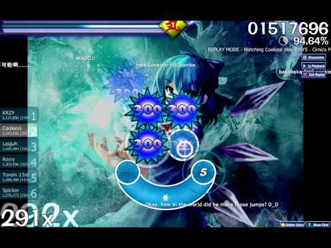 [osu!] Cirno's Perfect Math Class by Cookiezi (TAG4)