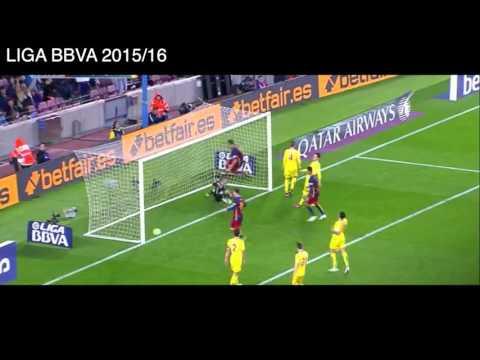 4 goles de Luis Suarez vs Sporting de Gijón, Barcelona 6 - 0 Sporting de Gijón, Liga BBVA 2016.