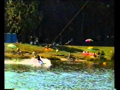 First Cable Wakeboard Contest Worldwide - Germany 1997 - Erik Münchmeyer´s first Air Raley Attempt