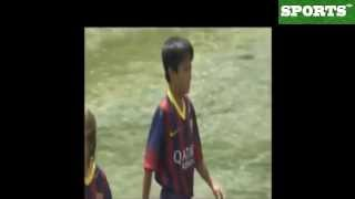 El hijo de Zico se viste de azulgrana | Zico's son is dressed of Barca