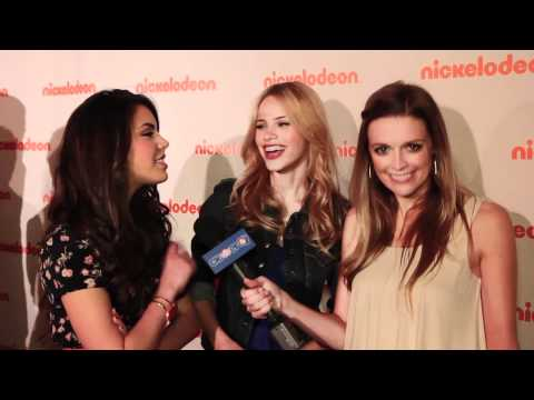Samantha Boscarino & Halston Sage Interview - 2012 Nickelodeon Upfronts