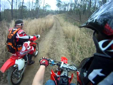 CR500 and CRF250R trail riding