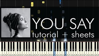 Download Lagu Lauren Daigle - You Say - Piano Tutorial + Sheets Gratis STAFABAND