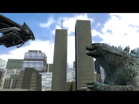 Godzilla vs MUTO Animation Test Gmod.