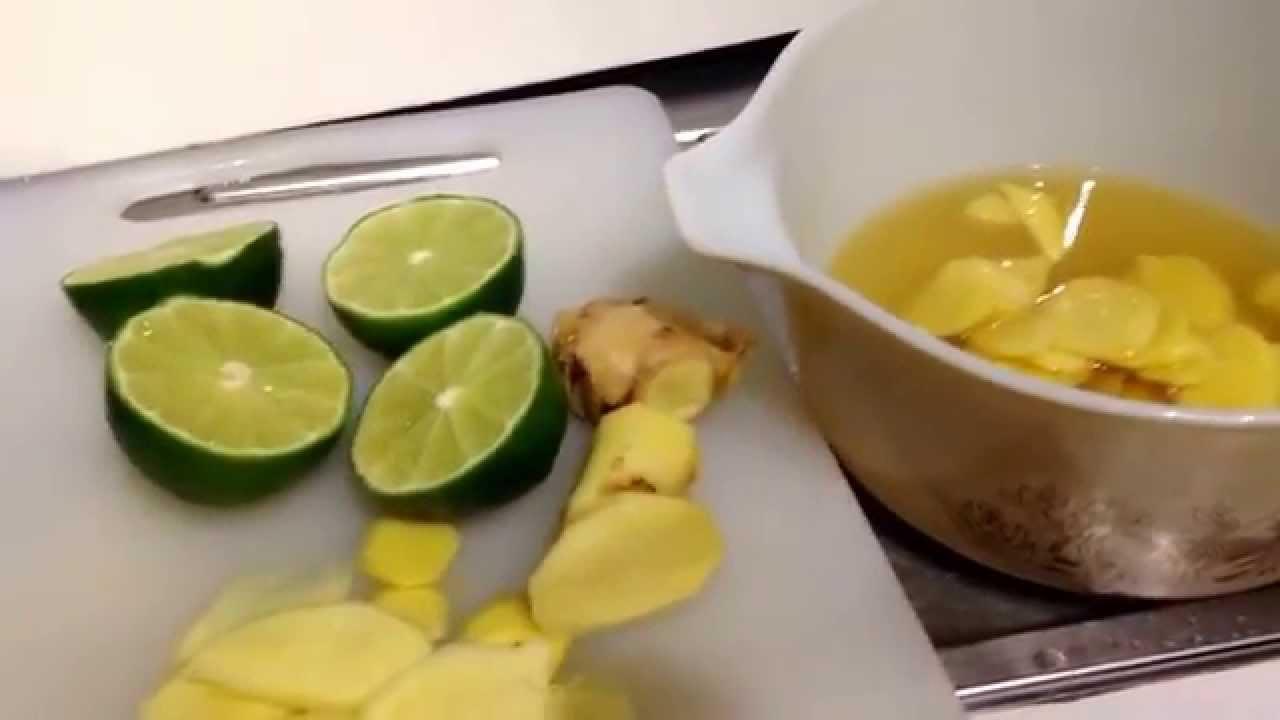 Jarabe de jengibre limón y miel para la gripe y resfrio