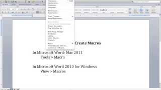 Get Organized: How to Create a Macro in Microsoft Word