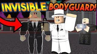 INVISIBLE BODYGUARD TROLLING! | ROBLOX: Super Power Training Simulator