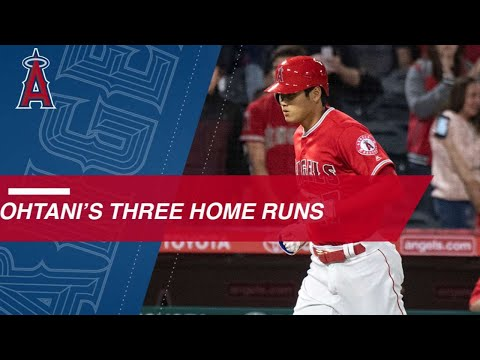 Ohtani's trio of homers