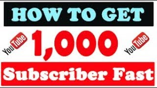How to Get YouTube Subscribers Fast (2018)