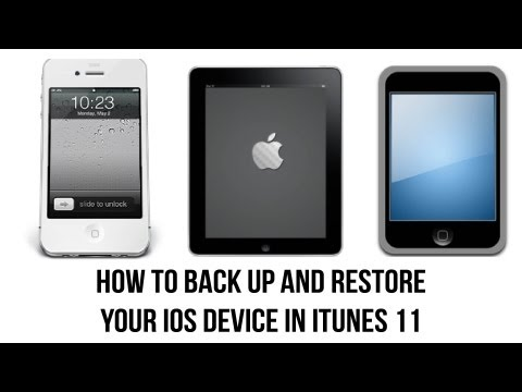 iTunes 11 Tutorial - How To Back Up Your iPhone. iPad. or iPod