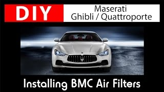 DIY Maserati Ghibli: Installing BMC Air Filters