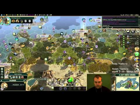 Civilization 5 Multiplayer 131: Carthage [3/4] ( BNW 6 Player Free For All) Gameplay/Commentary