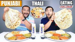 PUNJABI THALI EATING CHALLENGE   Veg Punjabi Food Eating Competition   Food Challenge