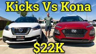 Comparison: 2018 Nissan Kicks Vs. 2018 Hyundai Kona ($22k each!)