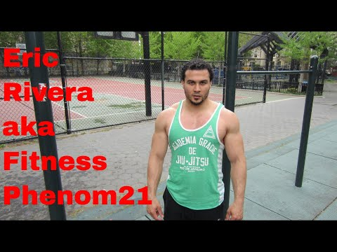 Can Eric Rivera do 50 pull ups and 100 push ups in under 5 minutes?