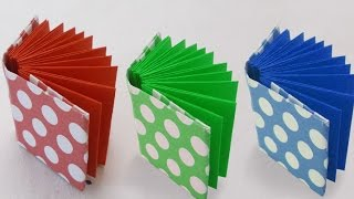 DIY Project Ideas : How to Make a Mini Origami Book - Kids Crafts Simple Origami