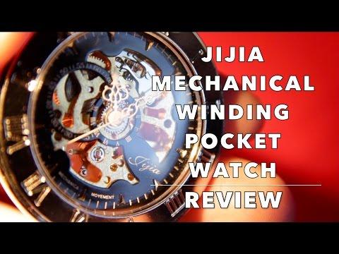 Review of $10 Jijia Mechanical Winding Pocket Watch from Gearbest & Aliexpress