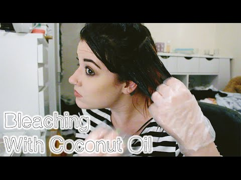Bleaching My Hair Using Coconut Oil