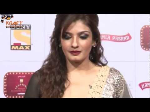 Raveena Tandon Hot Netted Full Sleeves Anarkali Dress video