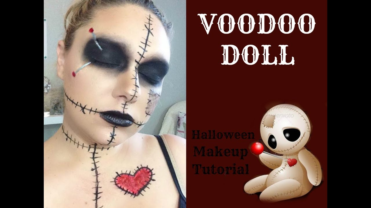 Halloween doll makeup and costume