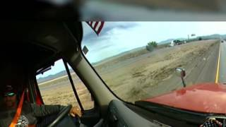 360 Degree Trucking View. Accident on I15 California westbound