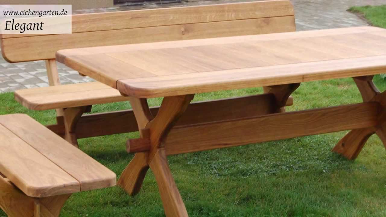 Holz Gartenmöbel Set - YouTube