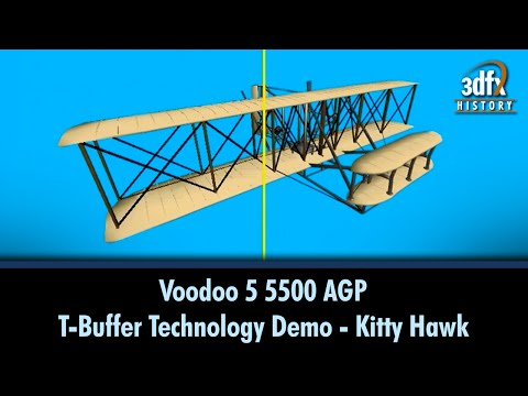 3dfx Voodoo 5 5500 AGP - T-Buffer Technology Demo - KittyHawk