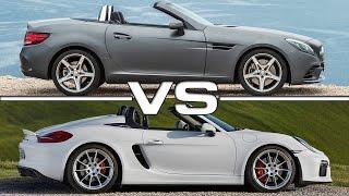Porsche Boxster Spyder vs Mercedes Benz SLC