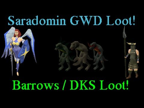 Oldschool Runescape - Saradomin GWD Loot! + Barrows & DKS Loot! | 2007 Servers Progress Ep. 83