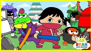 Ryan Ninja kids Spy Mission |  Cartoon Animation for Children with Ryan ToysReview