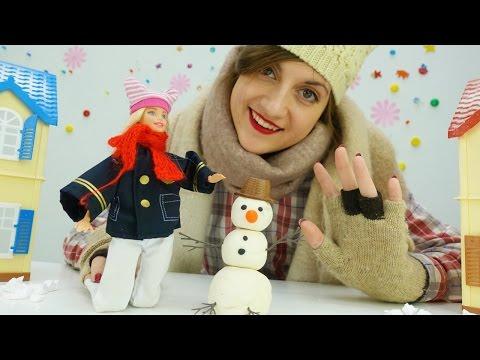 Игры для девочек: Барби, Аня и зимние игры со снегом