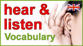 Hear and listen, The Difference between hear and listen
