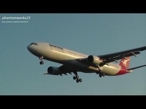 x3 Qantas Airways A330-300 Landings | RWY 25 | Sydney Airport SYD / YSSY