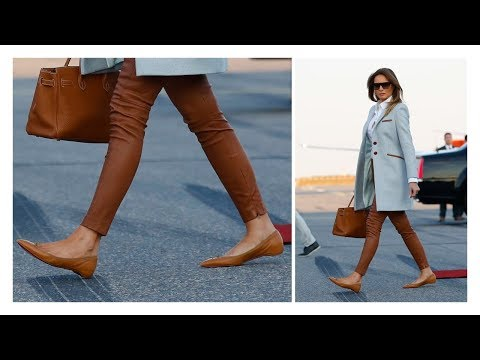 Melania Trump has a RARE moment in Flat Shoes during Finland Trip