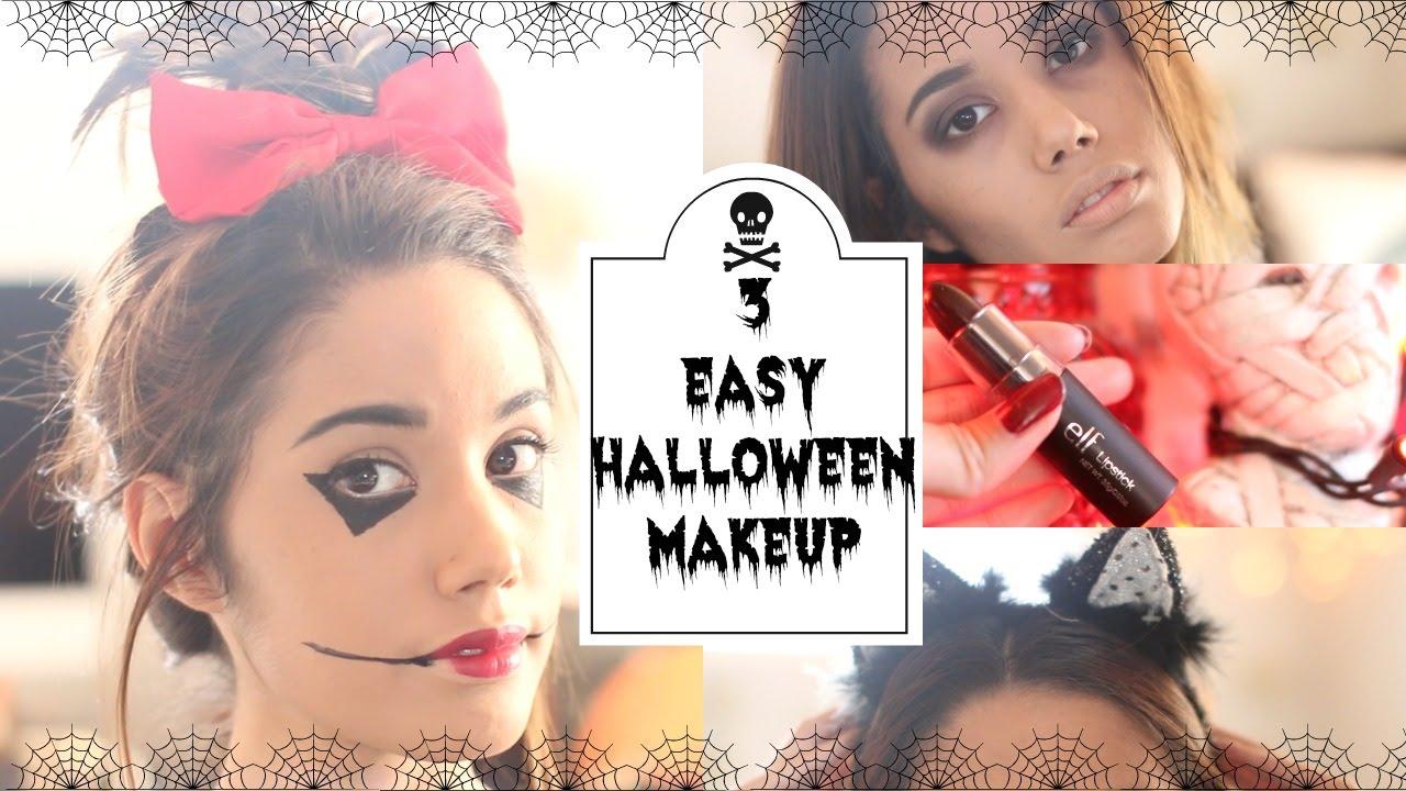 3 Super Easy Halloween Makeup Costume Ideas!  YouTube - Super Easy Halloween Makeup