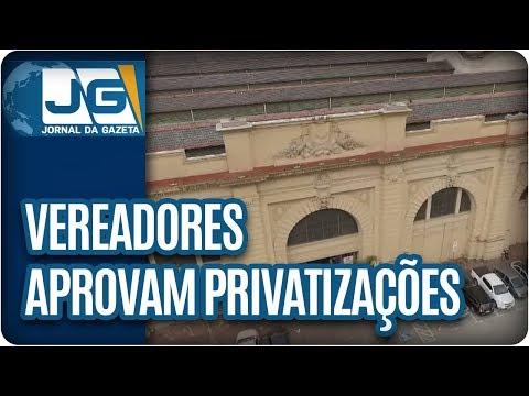 Vereadores aprovam privatizações