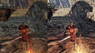 [60fps] Dark Souls 2 PS4 Remaster vs Original PC Version Real-Time Comparison