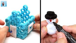How to make a winter house Christmas decorations diy ideas for Handcraft