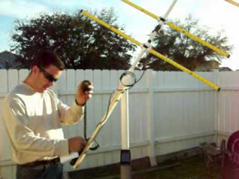 Satellite Fever KP4WK working AO51 with the tape measure antenna