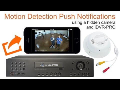 Hidden Spy Surveillance Camera Push Notification to iPhone