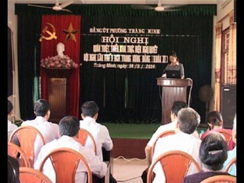 Đảng ủy phường Tràng Minh tổ chức hội nghị quán triệt nghị quyết TW 9 khóa XI
