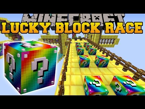 Minecraft: RAINBOW ROAD EPIC LUCKY BLOCK RACE - Lucky Block Mod - Modded Mini-Game