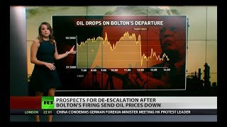 Oil drops as Bolton exits, softer foreign policy?