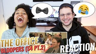 The Office US - Season 4 Bloopers pt. 2 | REACTION