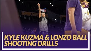 Lakers Nation: Kyle Kuzma & Lonzo Ball Shooting Drills Pre-game
