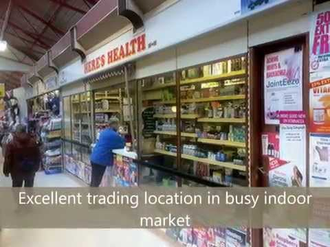 2353 | Busy Health Food Stall in Oldham Market, Greater Manchester For Sale | Hilton Smythe