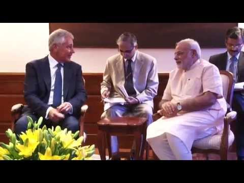 US Defence Secretary Chuck Hagel calls on PM Narendra Modi