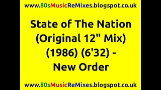 Watch New Order State Of The Nation video